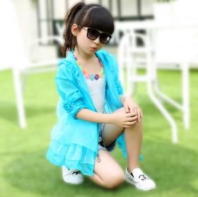 小孩防晒衣女夏季透气皮肤衫雨超薄空调服中大