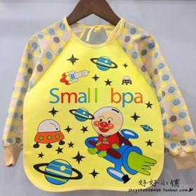 宝宝外贸卡通防水反穿衣 婴儿吃饭罩衣围兜 画画衣