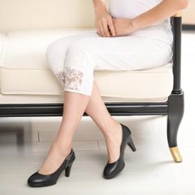 中年小脚黑色显瘦妈妈装打底裤女裤