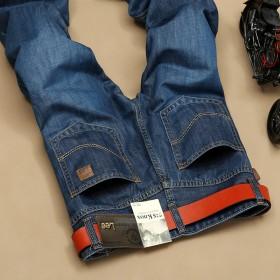 LEE春夏新款修身直筒弹力男士牛仔裤男薄款春季男裤