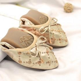 舒适超软单鞋 豆豆鞋 孕妇女鞋 浅口牛筋底铆钉女鞋