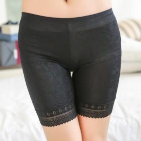 1条装玫瑰花纹优质舒适女士纯棉安全裤