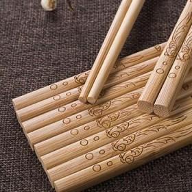 青竹坊天然竹筷子无漆无蜡碳化30双装