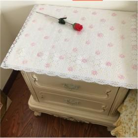 定制PVC烫金镂空桌布电视柜垫 茶几垫床头柜罩