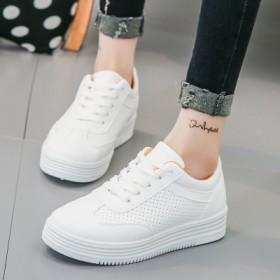 2017夏季新款韩版系带镂空透气小白鞋女运动休闲百