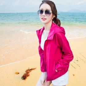 防晒衣女外套韩版宽松夏季防紫外线超薄空调衫学生户外