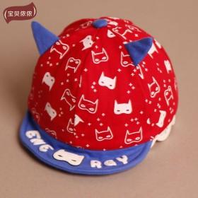 宝宝帽春秋鸭舌帽男婴儿帽子夏天遮阳帽女儿童太阳帽