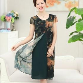 中老年女装新品连衣裙