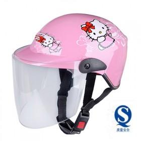头盔 夏摩托车儿童紫外遮阳帽男女小孩通用轻便式