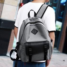 男士双肩包韩版书包中学生男潮青年背包牛牛津布旅行包