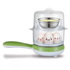 迈佳多功能家用双层煮蛋器自动断电迷你煎蛋器蒸蛋器