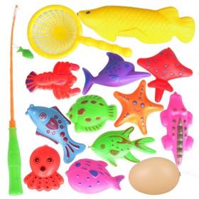 磁性钓鱼玩具14件套