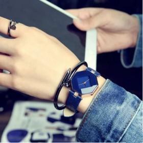 韩版简约手表时尚女学生小表盘个性六面迷你现代文艺皮