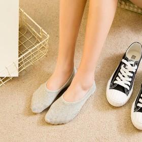 袜子女士春夏隐形袜女船袜糖果色硅胶防滑浅口纯色女袜
