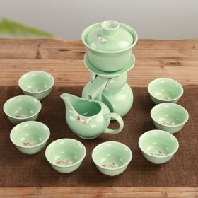 半自动出水陶瓷茶具套装整套