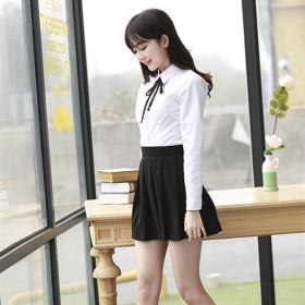 JK制服校服短袖衬衫百褶裙班服日本高中学生装学院风