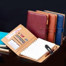 商务仿皮记事本活页笔记本文具手账本日记本子