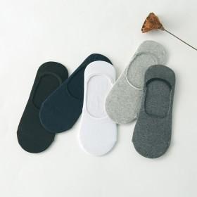 任意色4双男袜防滑硅胶隐形船袜 豆豆鞋袜子