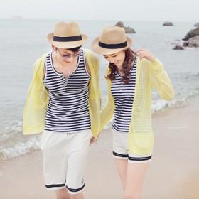 韩版遮阳帽太阳帽子草帽英伦小礼帽男女款沙滩必备情侣