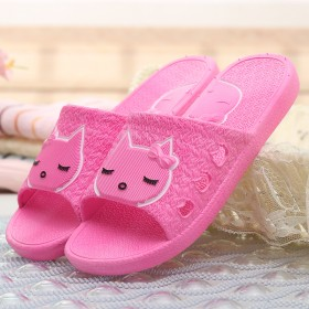 可爱卡通男女情侣拖鞋防滑厚底洗澡凉拖鞋