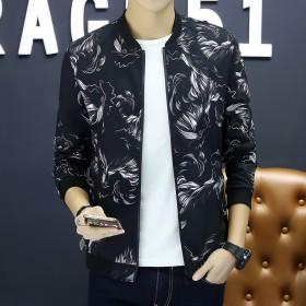 新款夹克外套男韩版新款潮流休闲帅气修身上衣