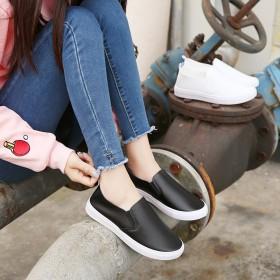 女鞋百搭一脚蹬春季懒人小白鞋子韩版学生时尚乐福单鞋
