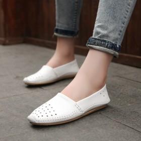 【只亏一次】豆豆鞋妈妈鞋女单鞋平底镂空休闲洞洞鞋潮