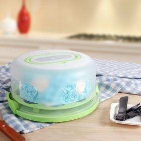 10寸加厚带托架手提塑料烘焙蛋糕盒