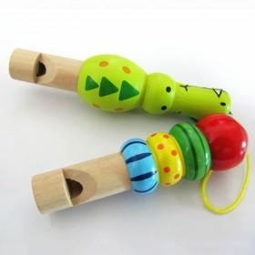儿童宝宝木制可爱卡通动物小口哨吹奏乐器玩具包邮