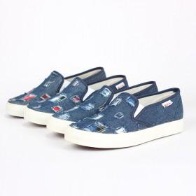 四季套脚低帮纯色帆布鞋女鞋韩版板鞋休闲圆头布鞋平跟