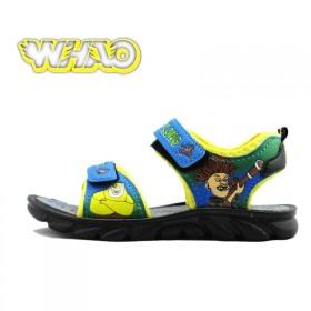 特价春季童鞋透气光头强涂鸦夏男童凉鞋正品童鞋外贸小
