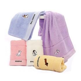 洁丽雅4条装纯棉卡通可爱儿童成人通用款简约洗脸毛巾