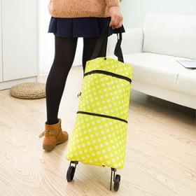 IUX/佑希简易便携购物车拉杆拖轮包多功能购物袋