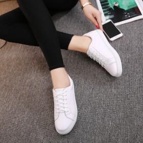 【牛皮】只亏一次!2017春新款真皮小白鞋板鞋女鞋