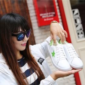 【只亏一次】牛皮2017新款韩版女单鞋休闲平底女鞋