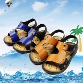 2017年儿童凉鞋童鞋男童水鞋女童夏季露趾搭扣宝宝