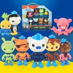 海底小纵队玩具8人礼盒装 男女孩过家家