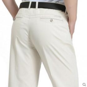 休闲裤男士春款夏季直筒宽松西裤中老年男裤