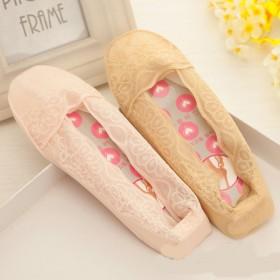 4双装高档硅胶船袜防滑丝袜浅口袜透明镂空