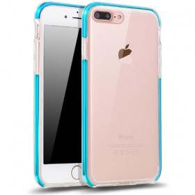 iPhone7手机壳来电闪光透明手机软壳带防尘塞