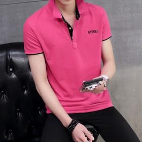2017夏季新款男士短袖POLO衫修身T恤