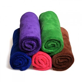 加厚磨绒擦车毛巾 吸水性好不掉毛不褪色