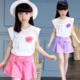 伊诺小镇儿童装女童套装夏装韩版套装儿童女童童装夏季