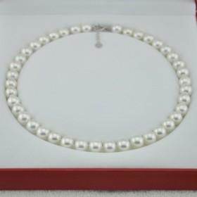天然贝珠项链珍珠母贝强光无暇母亲节礼物送妈妈配饰
