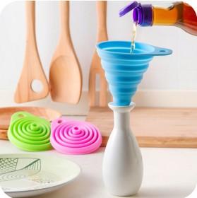3个装厨房硅胶便携式伸缩小漏斗