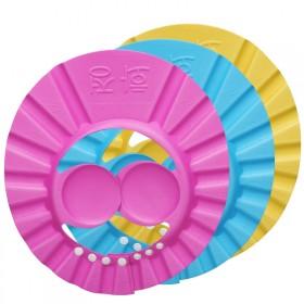 宝宝洗头帽防水护耳小孩洗澡帽弹性可调节加大婴儿洗发