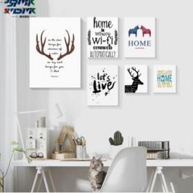 北欧小清新装饰画客厅沙发照片墙创意挂画