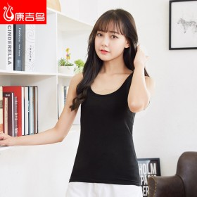 纯棉女士打底衫短款内搭黑色小吊带背心女夏