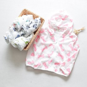 夏款韩版男女童防晒服 卡通印花薄儿童空调服外套