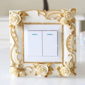 树脂开关贴墙贴创意家居开关套特价保护套插座贴